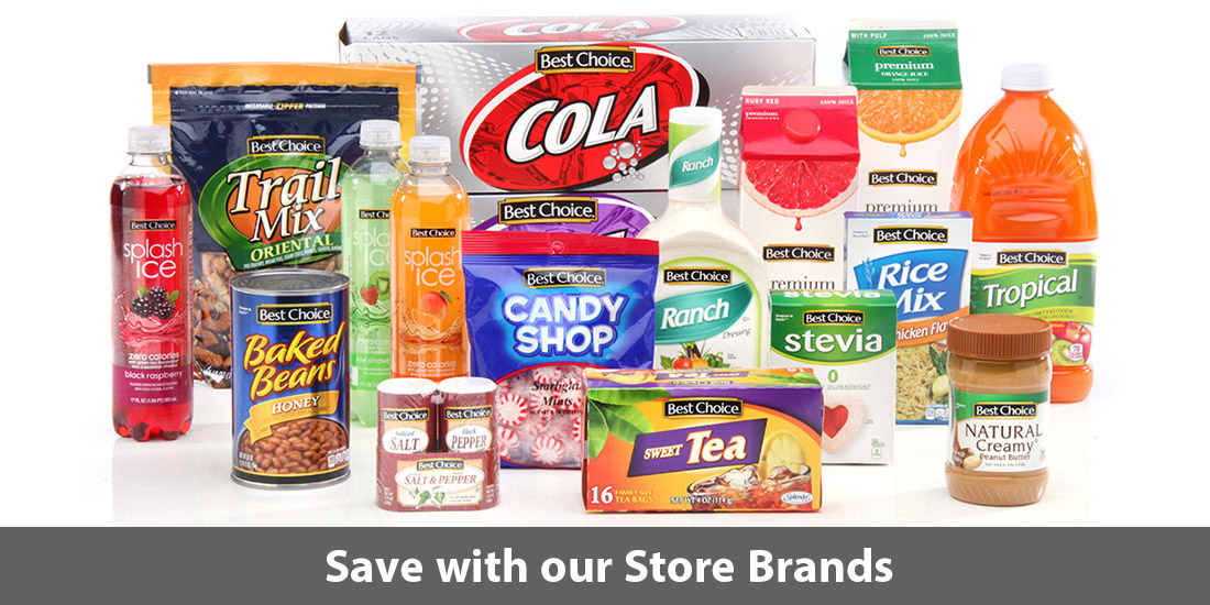Save with our store brands