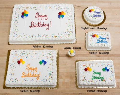 Party serving planner for cakes